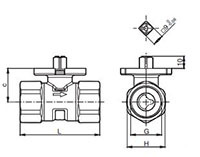 2-way regulating ball valve - VKR-DIM