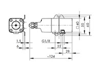 Differential pressure switch - DSD - Dimensional Drawing