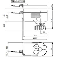 Valve Actuator 250-500 N - Dimensional Drawing